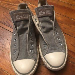 Slip on gray converse